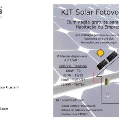 Iluminação de Habitação com Kit Solar